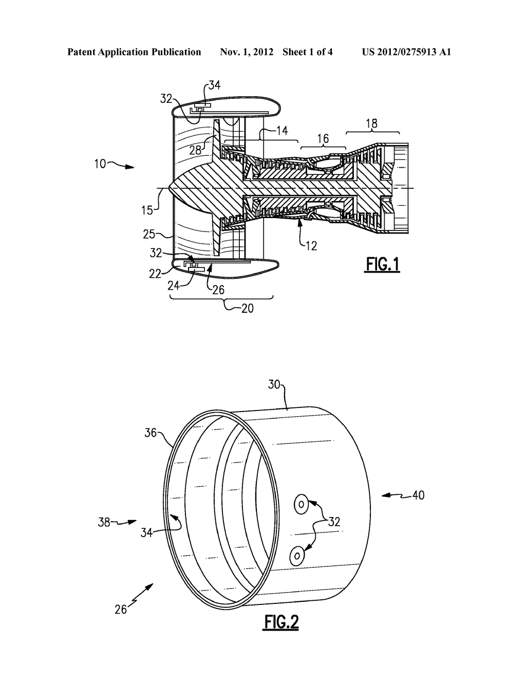 EXTERNAL THREADED MOUNT ATTACHMENT FOR FAN CASE - diagram, schematic, and image 02