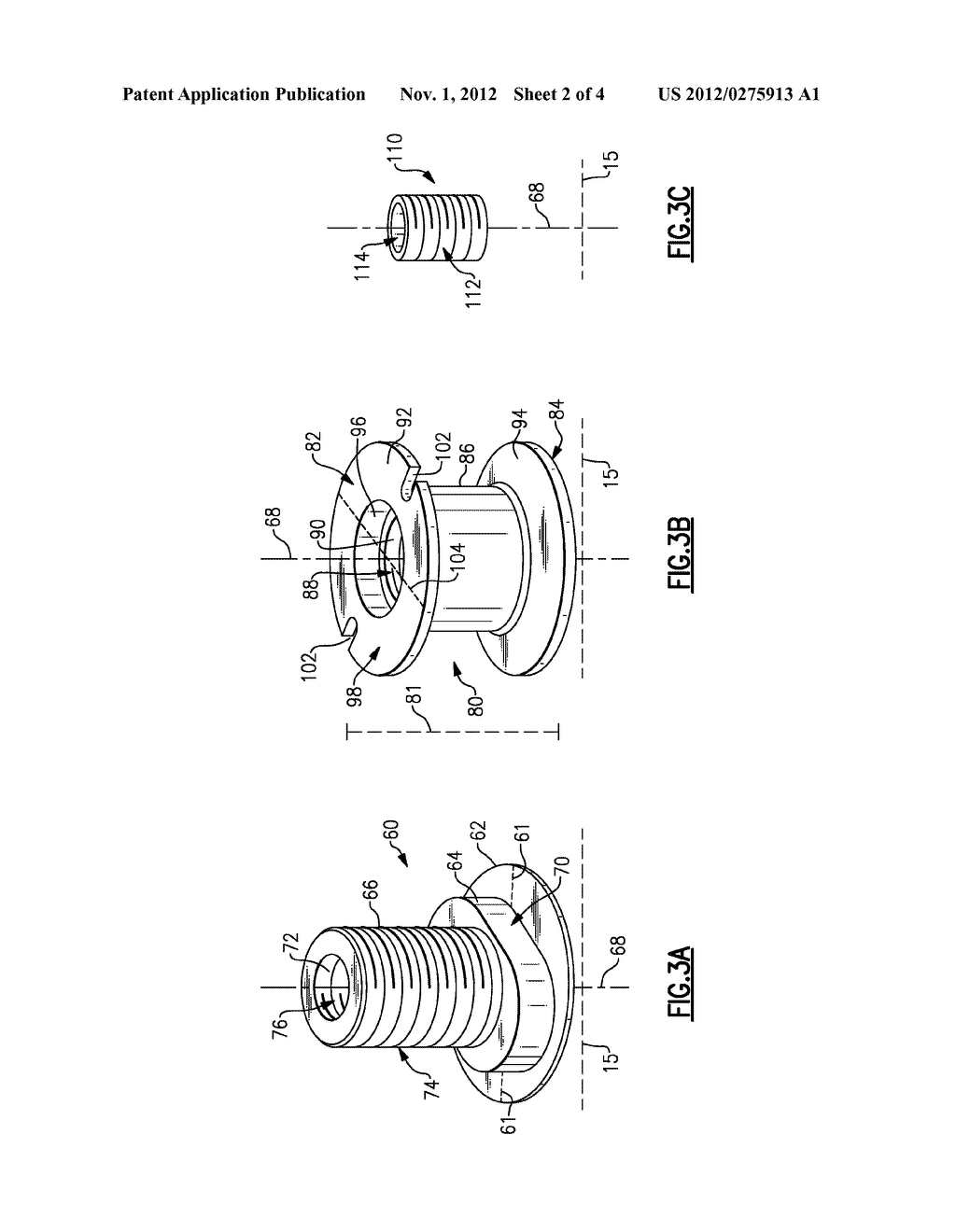 EXTERNAL THREADED MOUNT ATTACHMENT FOR FAN CASE - diagram, schematic, and image 03