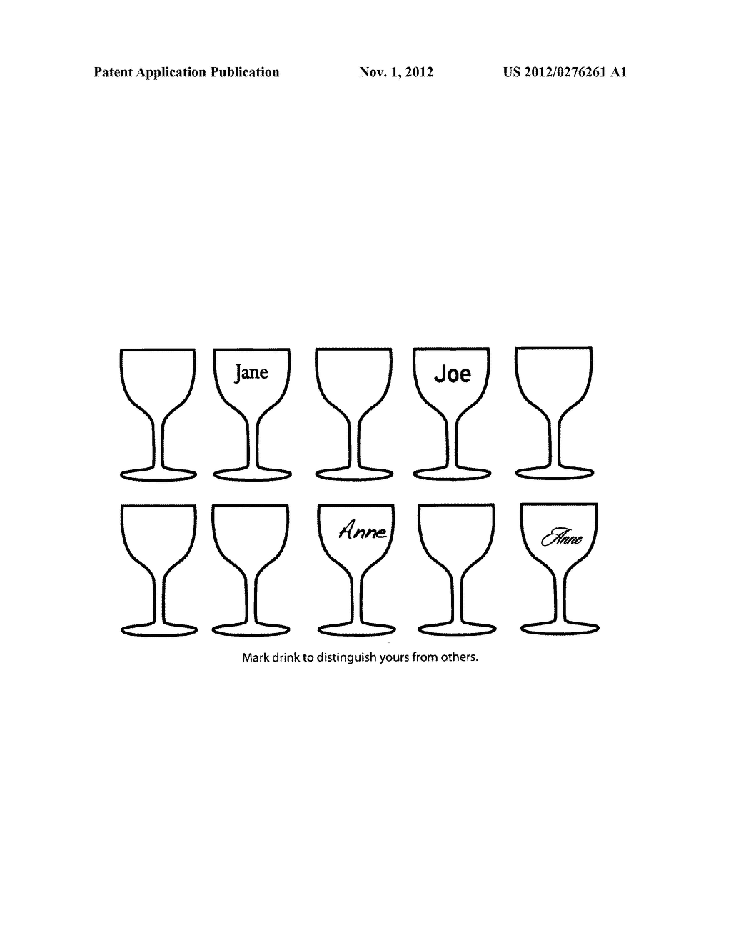 Method for identifying drinks using marking device - diagram, schematic, and image 02