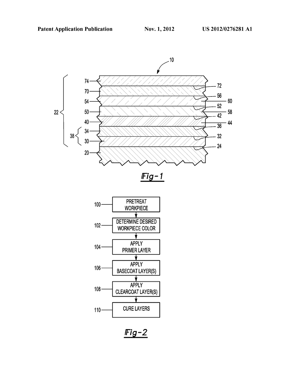 Method of Coating a Workpiece Incorporating a Color Contributing Primer     Layer - diagram, schematic, and image 02