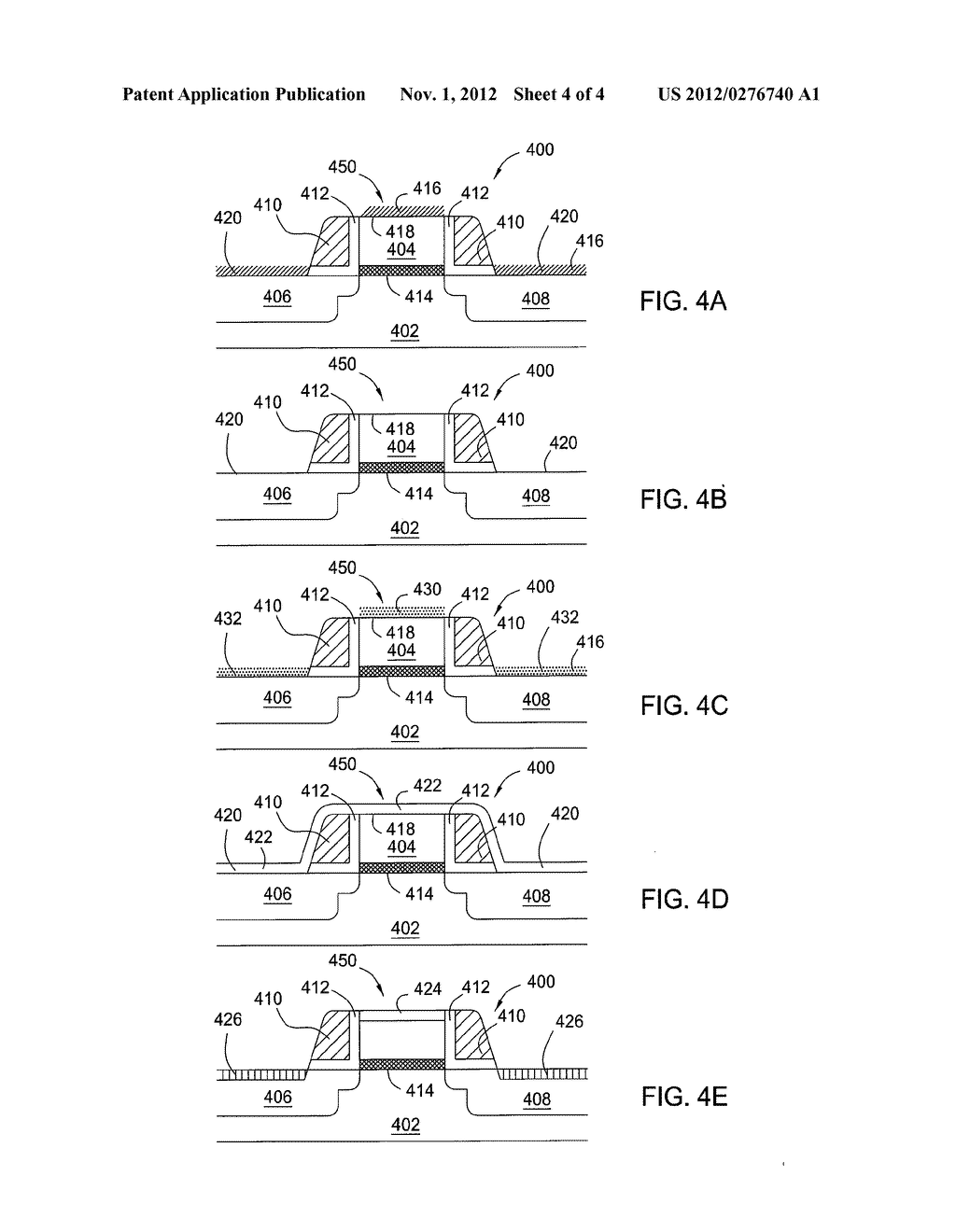 METHODS FOR PRECLEANING A SUBSTRATE PRIOR TO METAL SILICIDE FABRICATION     PROCESS - diagram, schematic, and image 05