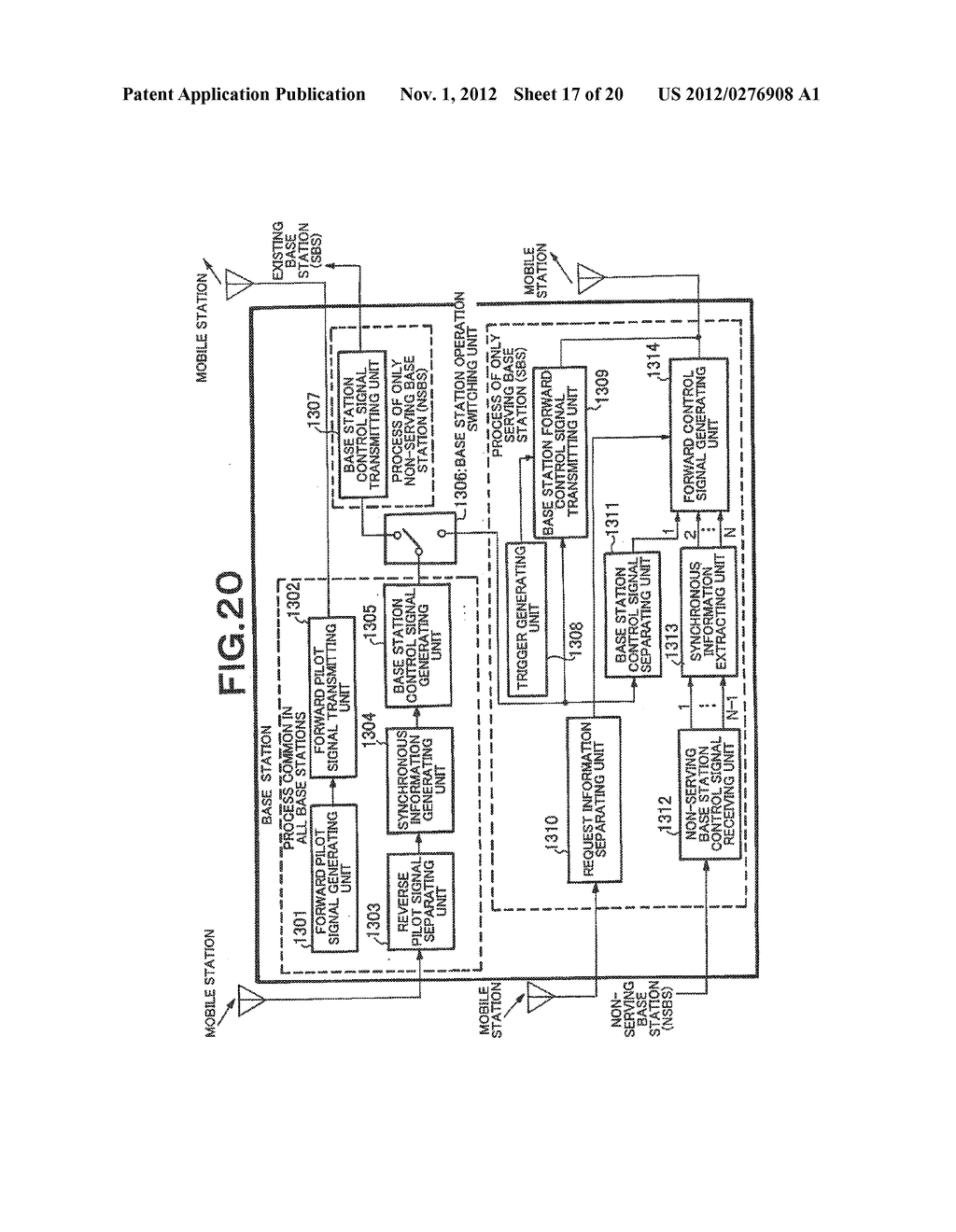 SYNCHRONIZATION SYSTEM AND SYNCHRONIZING METHOD FOR PLURALITY OF BASE     STATIONS AND MOBILE STATION IN A REVERSE LINK WIRELESS TRANSMISSION - diagram, schematic, and image 18