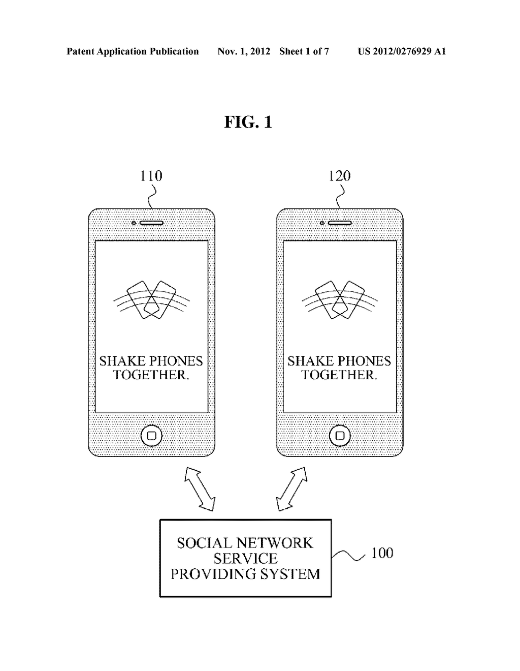SOCIAL NETWORK SERVICE PROVIDING SYSTEM AND METHOD FOR SETTING     RELATIONSHIP BETWEEN USERS BASED ON MOTION OF MOBILE TERMINAL AND     DISTANCE DETERMINED BY USER - diagram, schematic, and image 02