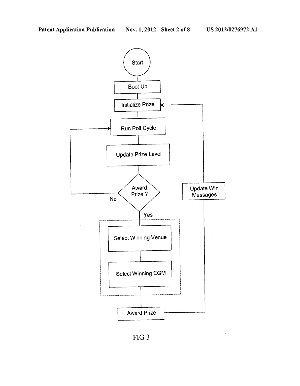 METHOD OF AWARDING A PRIZE - diagram, schematic, and image 03
