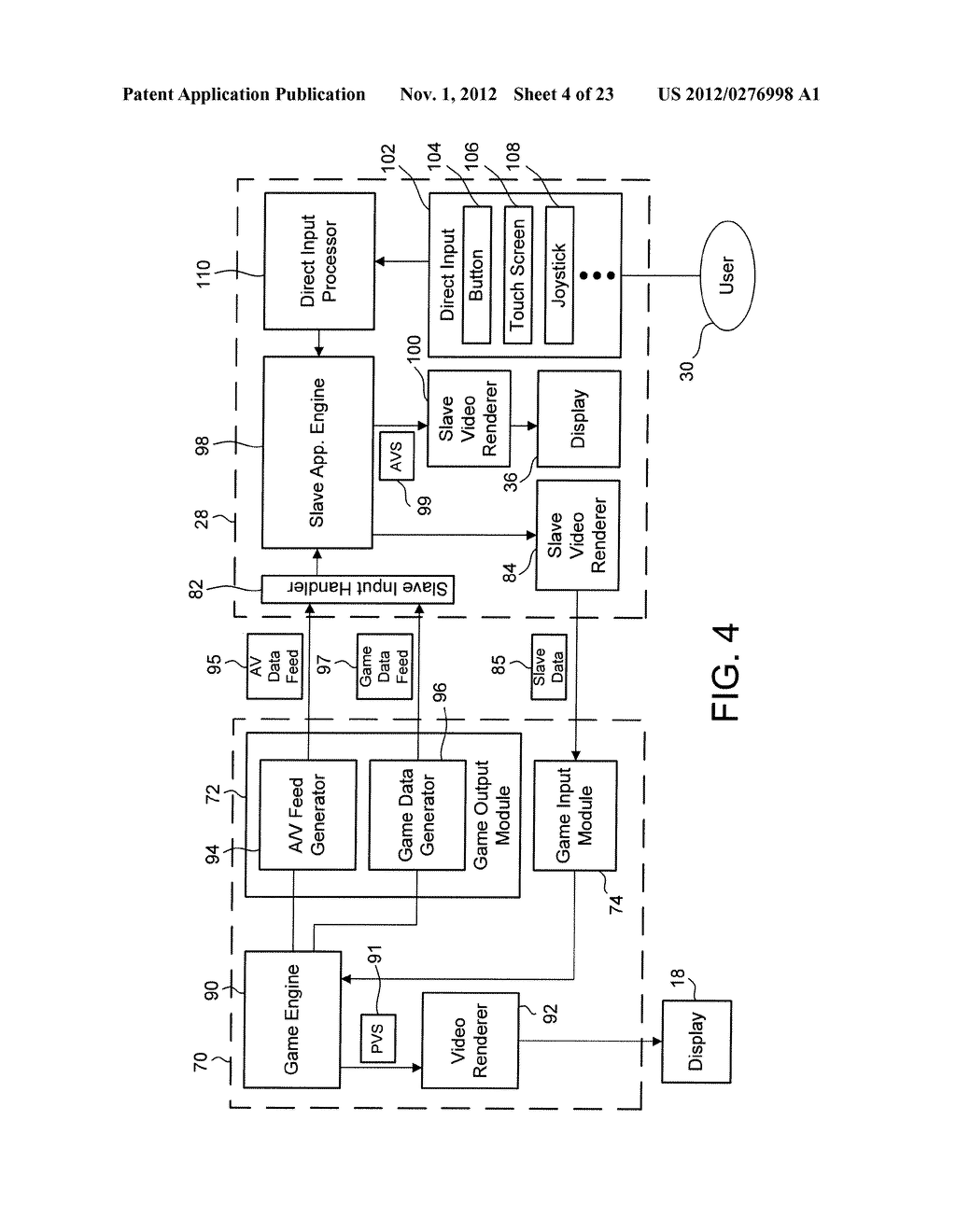 Methods and Systems for Playing Video Games with a Controller Having a     Display that Shares Content with a Main Display - diagram, schematic, and image 05