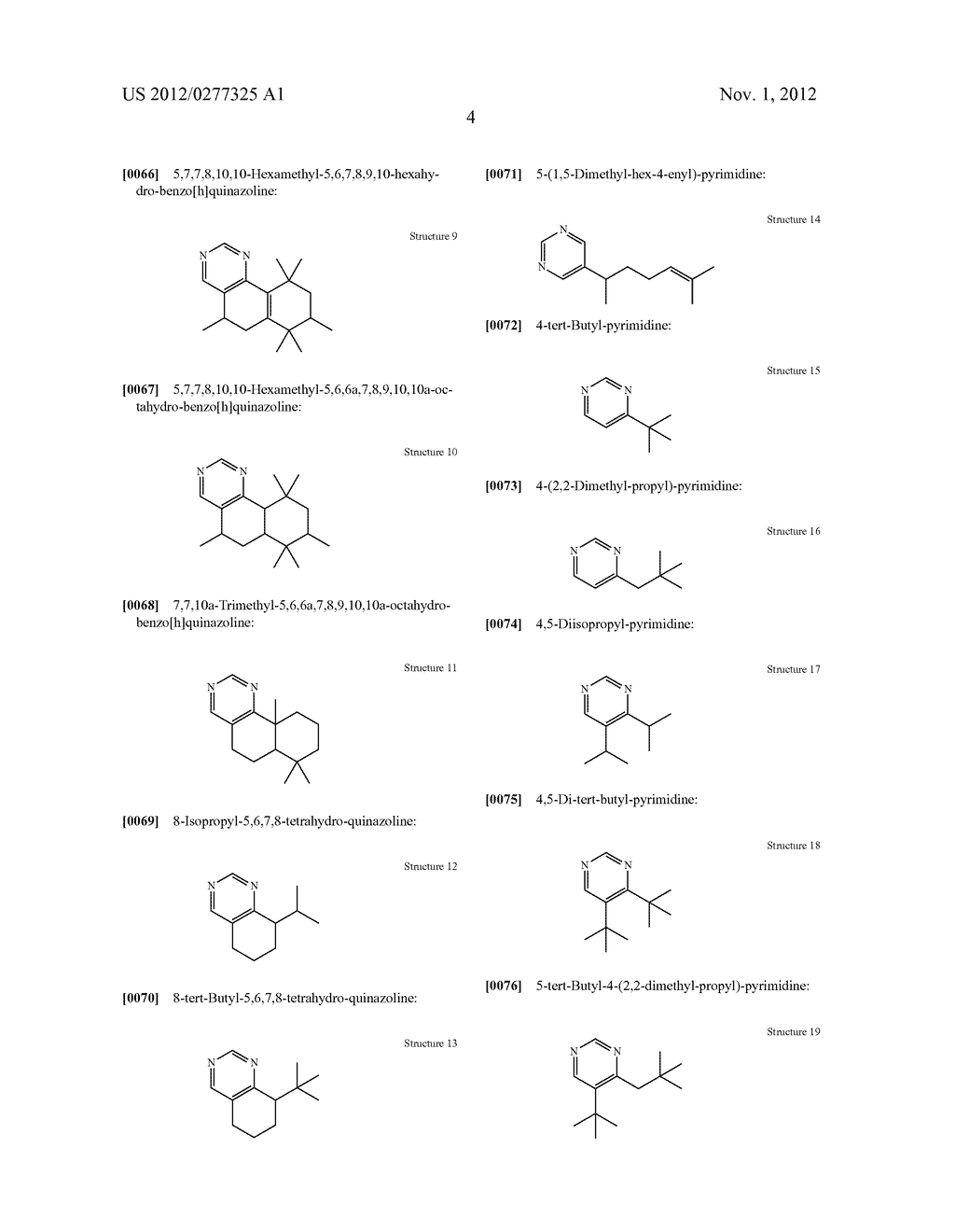 NOVEL PYRIMIDINE DERIVATIVES AND THEIR USE IN PERFUME COMPOSITIONS - diagram, schematic, and image 05