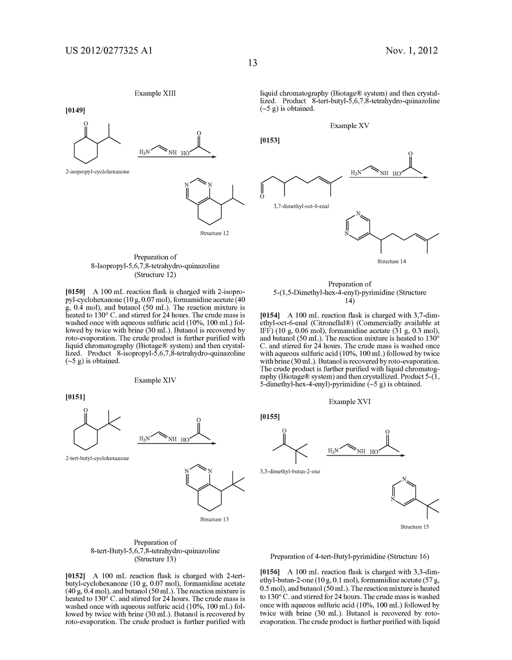 NOVEL PYRIMIDINE DERIVATIVES AND THEIR USE IN PERFUME COMPOSITIONS - diagram, schematic, and image 14