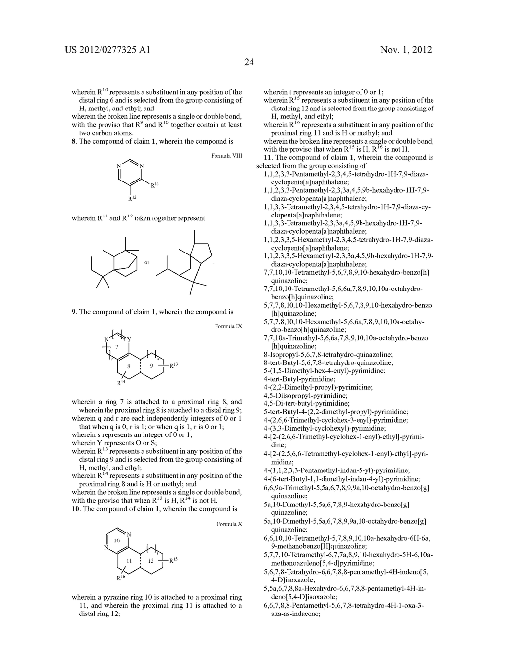 NOVEL PYRIMIDINE DERIVATIVES AND THEIR USE IN PERFUME COMPOSITIONS - diagram, schematic, and image 25