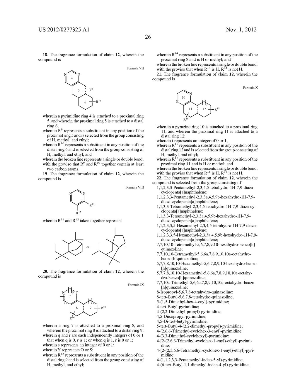 NOVEL PYRIMIDINE DERIVATIVES AND THEIR USE IN PERFUME COMPOSITIONS - diagram, schematic, and image 27