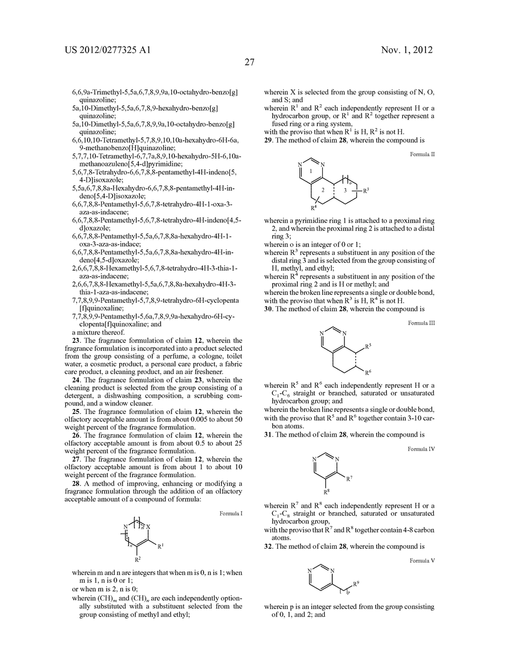 NOVEL PYRIMIDINE DERIVATIVES AND THEIR USE IN PERFUME COMPOSITIONS - diagram, schematic, and image 28