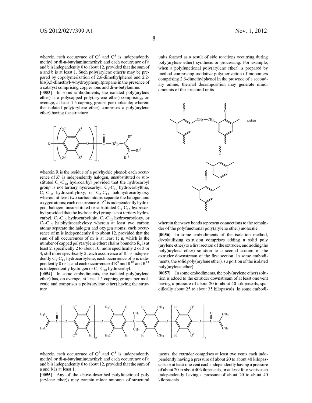METHOD OF SEPARATING A POLY(ARYLENE ETHER) COMPOSITION FROM A SOLVENT, AND     POLY(ARYLENE ETHER) COMPOSITION PREPARED THEREBY - diagram, schematic, and image 14