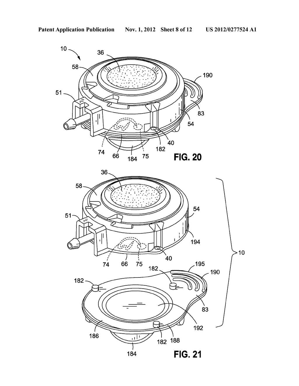 IMPLANTABLE ACCESS PORT DEVICE HAVING A SAFETY CAP - diagram, schematic, and image 09