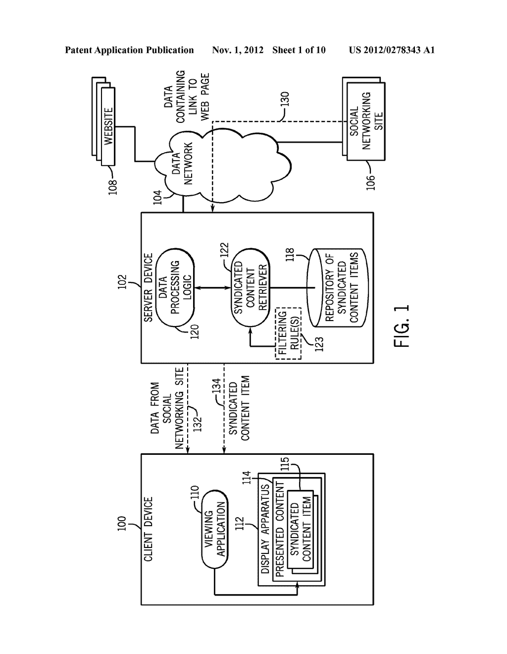 PROVIDING SYNDICATED CONTENT ASSOCIATED WITH A LINK IN RECEIVED DATA - diagram, schematic, and image 02