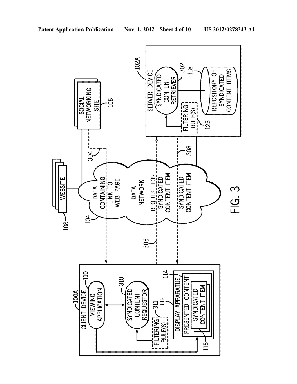 PROVIDING SYNDICATED CONTENT ASSOCIATED WITH A LINK IN RECEIVED DATA - diagram, schematic, and image 05
