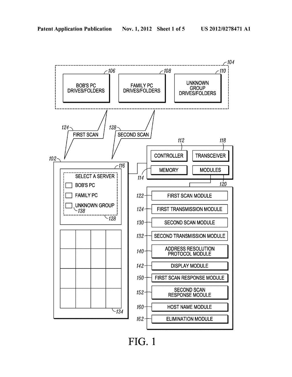 Devices and Methods for Two Step Searches for Servers by a Communication     Device - diagram, schematic, and image 02