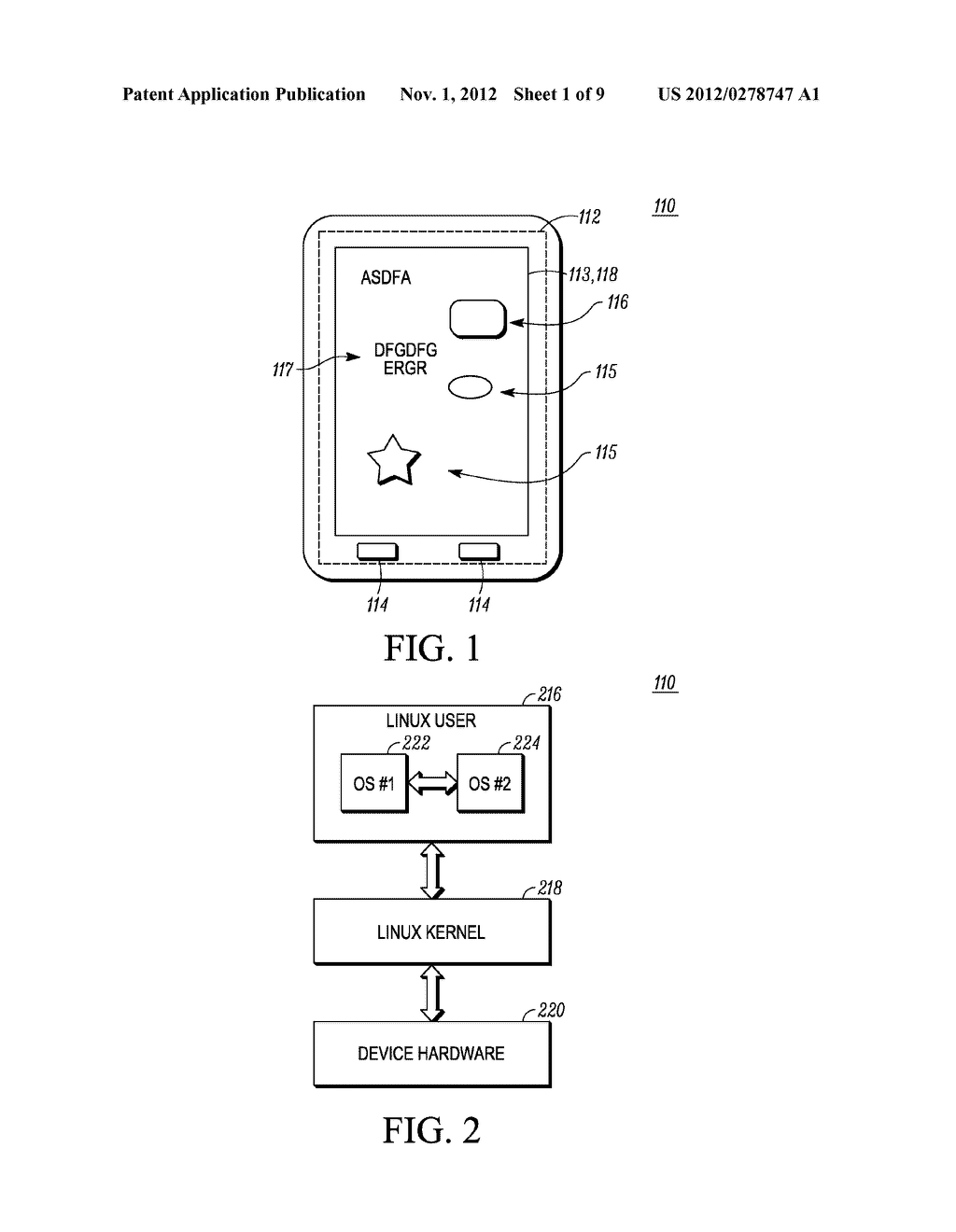 METHOD AND APPARATUS FOR USER INTERFACE IN A SYSTEM HAVING TWO OPERATING     SYSTEM ENVIRONMENTS - diagram, schematic, and image 02