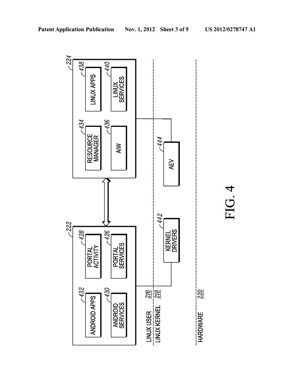 METHOD AND APPARATUS FOR USER INTERFACE IN A SYSTEM HAVING TWO OPERATING     SYSTEM ENVIRONMENTS - diagram, schematic, and image 04