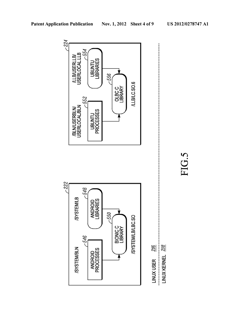 METHOD AND APPARATUS FOR USER INTERFACE IN A SYSTEM HAVING TWO OPERATING     SYSTEM ENVIRONMENTS - diagram, schematic, and image 05