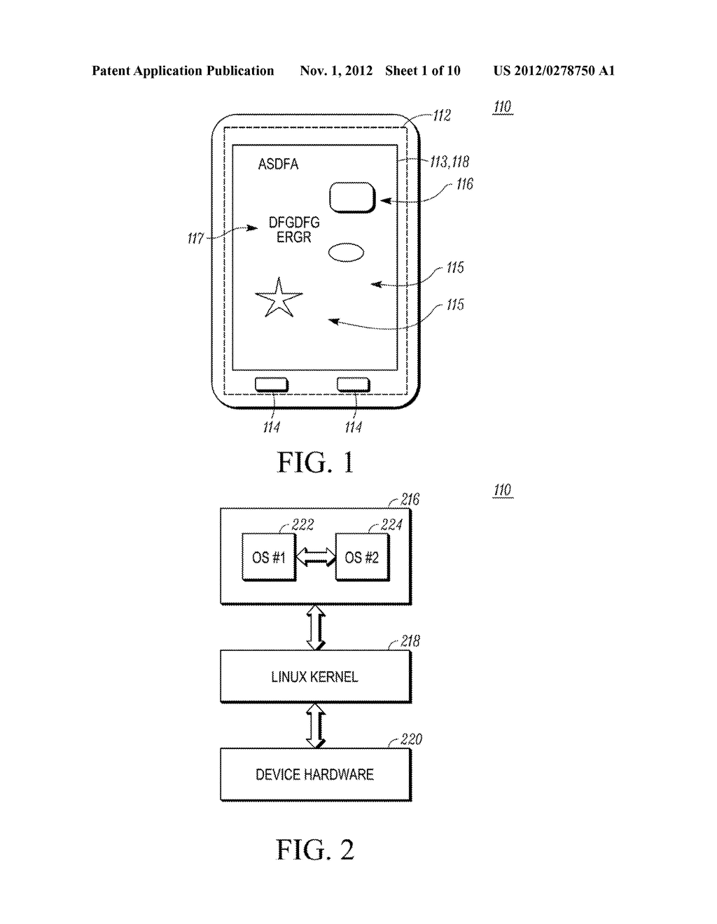 METHOD AND APPARATUS FOR PRESENTING A WINDOW IN A SYSTEM HAVING TWO     OPERATING SYSTEM ENVIRONMENTS - diagram, schematic, and image 02