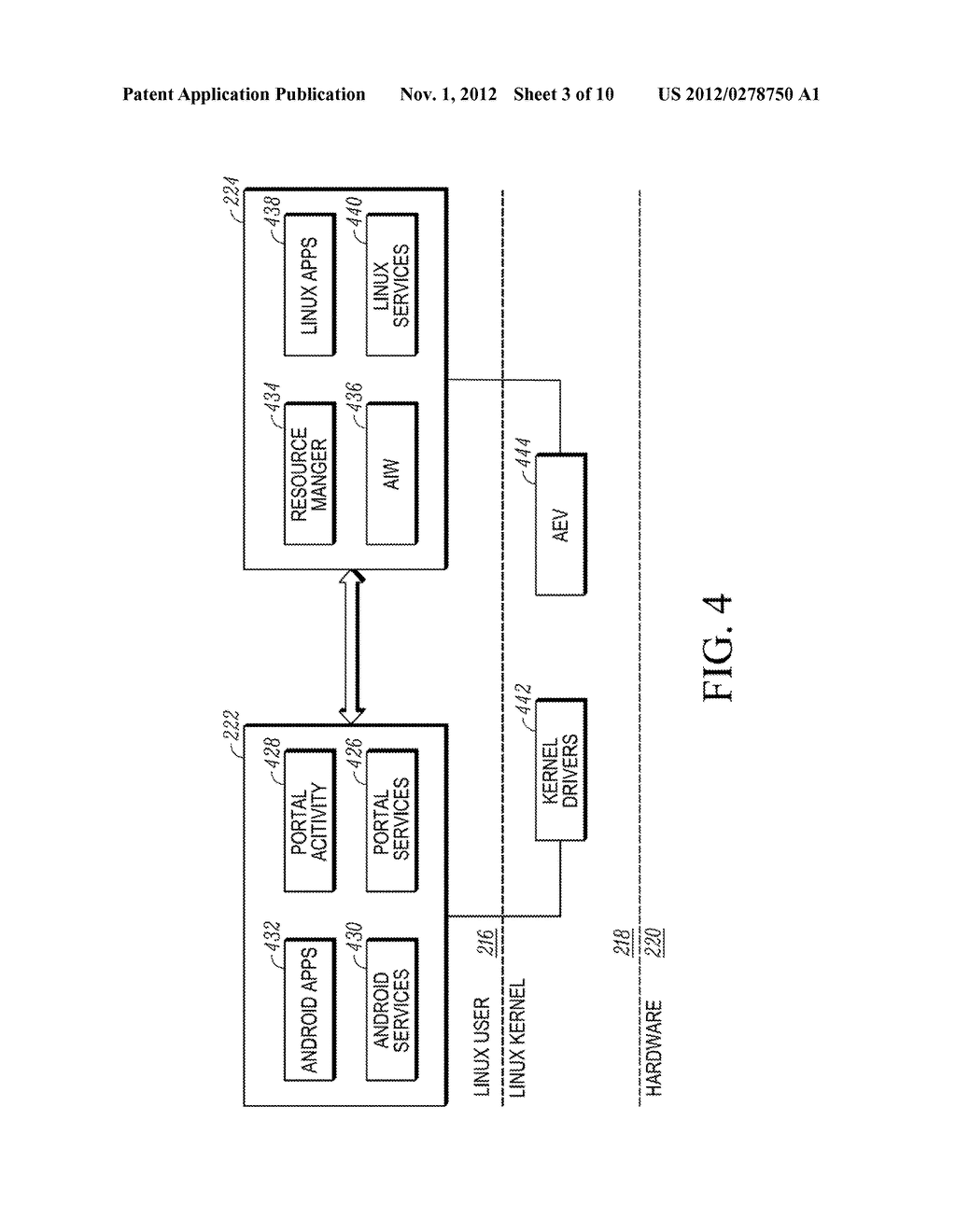 METHOD AND APPARATUS FOR PRESENTING A WINDOW IN A SYSTEM HAVING TWO     OPERATING SYSTEM ENVIRONMENTS - diagram, schematic, and image 04