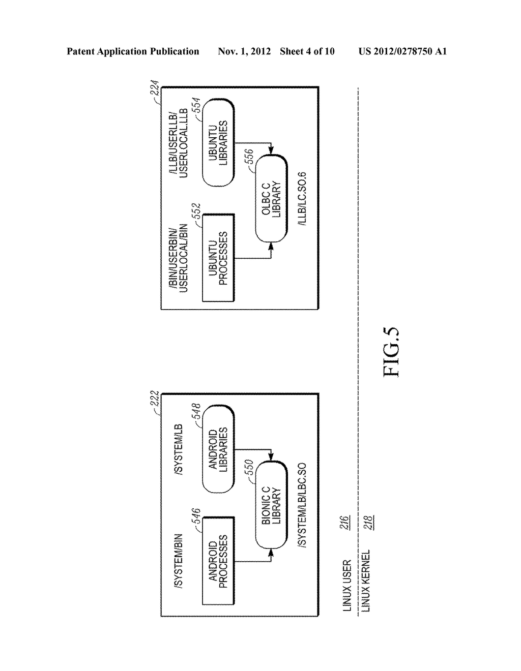 METHOD AND APPARATUS FOR PRESENTING A WINDOW IN A SYSTEM HAVING TWO     OPERATING SYSTEM ENVIRONMENTS - diagram, schematic, and image 05