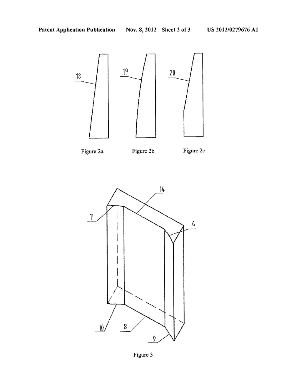 CHAMFERED NARROW SIDE COPPER PLATE FOR MOULD WITH FUNNEL-SHAPED CURVED     SURFACE - diagram, schematic, and image 03