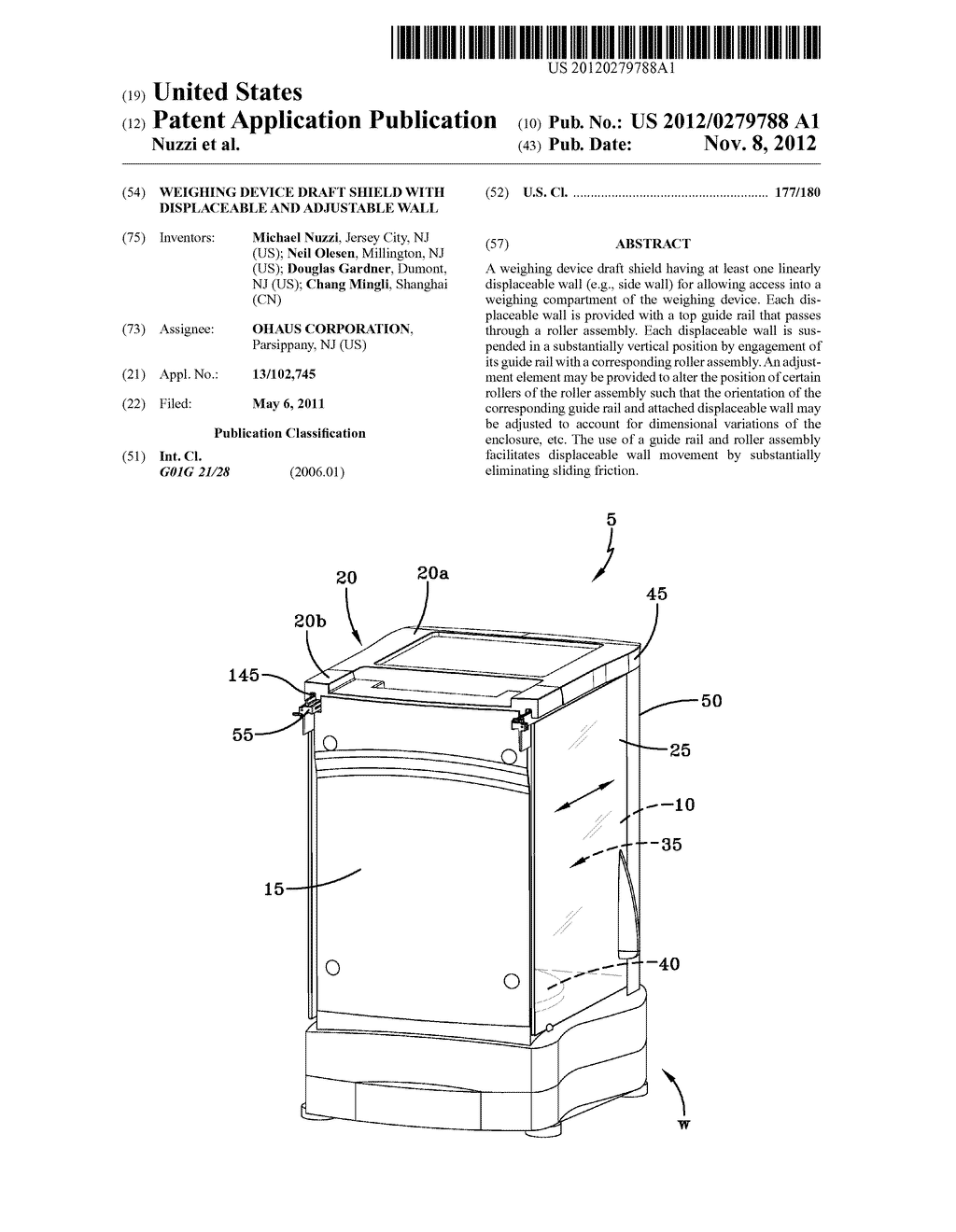 WEIGHING DEVICE DRAFT SHIELD WITH DISPLACEABLE AND ADJUSTABLE WALL - diagram, schematic, and image 01