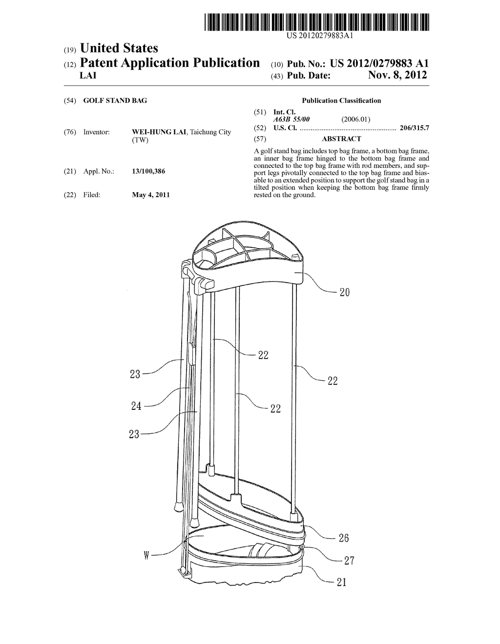 GOLF STAND BAG - diagram, schematic, and image 01