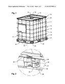 Pallet-Like Base Frame For Transport And Storage Containers For Liquids diagram and image