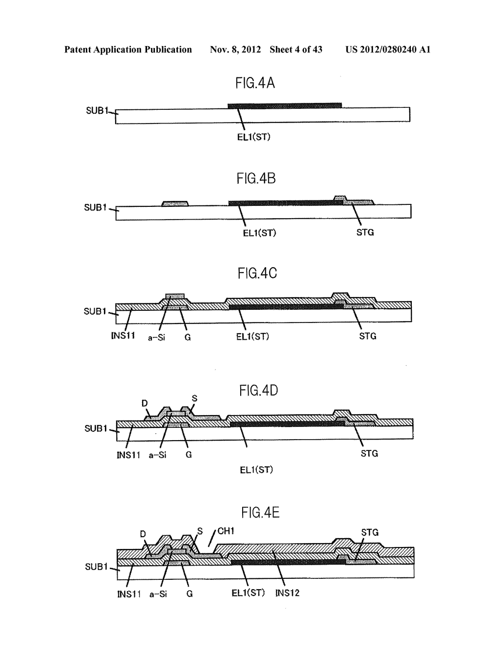 LIQUID CRYSTAL DISPLAY DEVICE HAVING FIRST, SECOND, AND THIRD TRANSPARENT     ELECTRODES WHEREIN A SECOND REGION OF THE SECOND ELECTRODE PROTRUDES FROM     A FIRST REGION - diagram, schematic, and image 05
