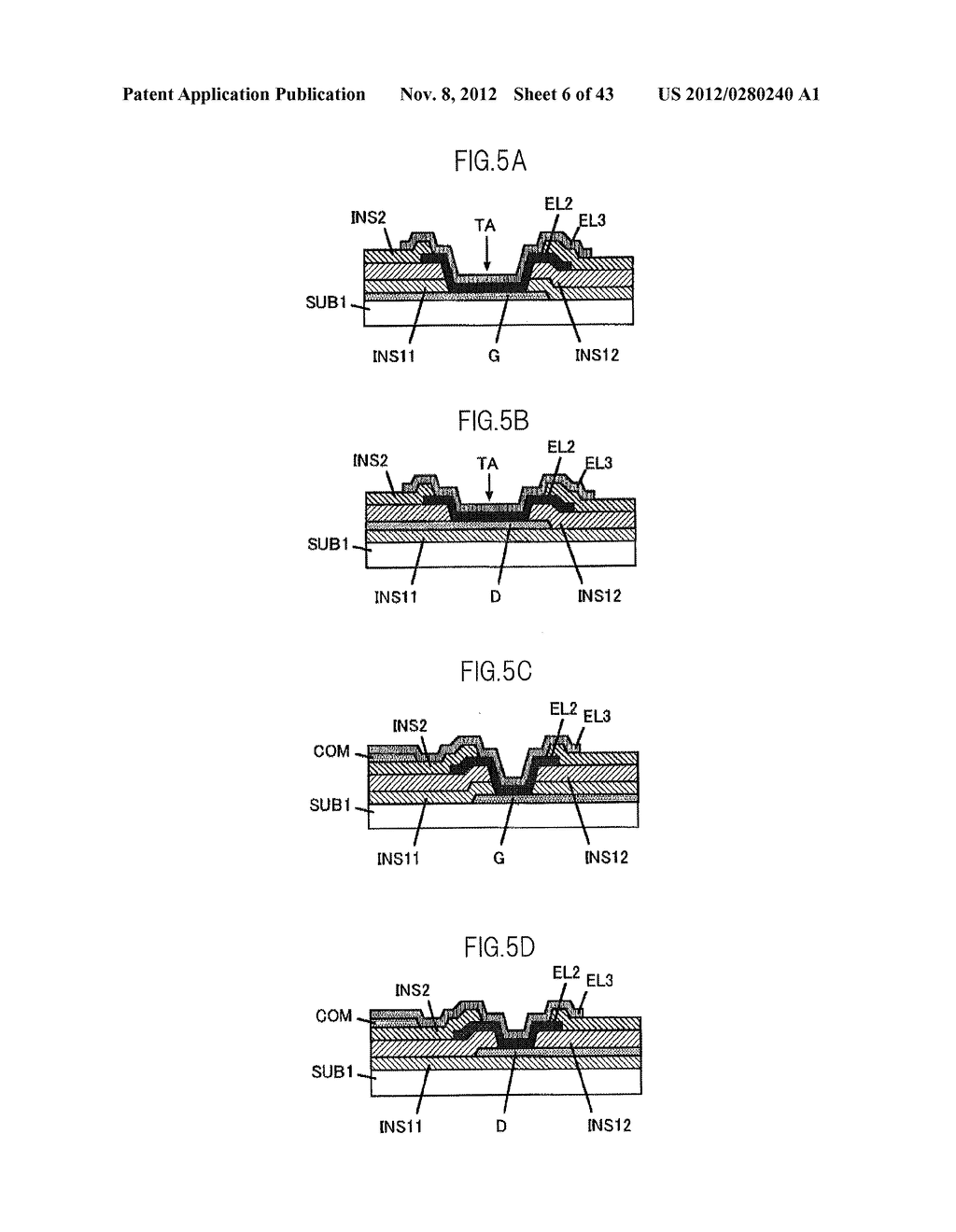 LIQUID CRYSTAL DISPLAY DEVICE HAVING FIRST, SECOND, AND THIRD TRANSPARENT     ELECTRODES WHEREIN A SECOND REGION OF THE SECOND ELECTRODE PROTRUDES FROM     A FIRST REGION - diagram, schematic, and image 07
