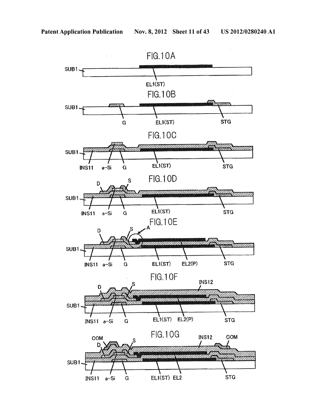 LIQUID CRYSTAL DISPLAY DEVICE HAVING FIRST, SECOND, AND THIRD TRANSPARENT     ELECTRODES WHEREIN A SECOND REGION OF THE SECOND ELECTRODE PROTRUDES FROM     A FIRST REGION - diagram, schematic, and image 12