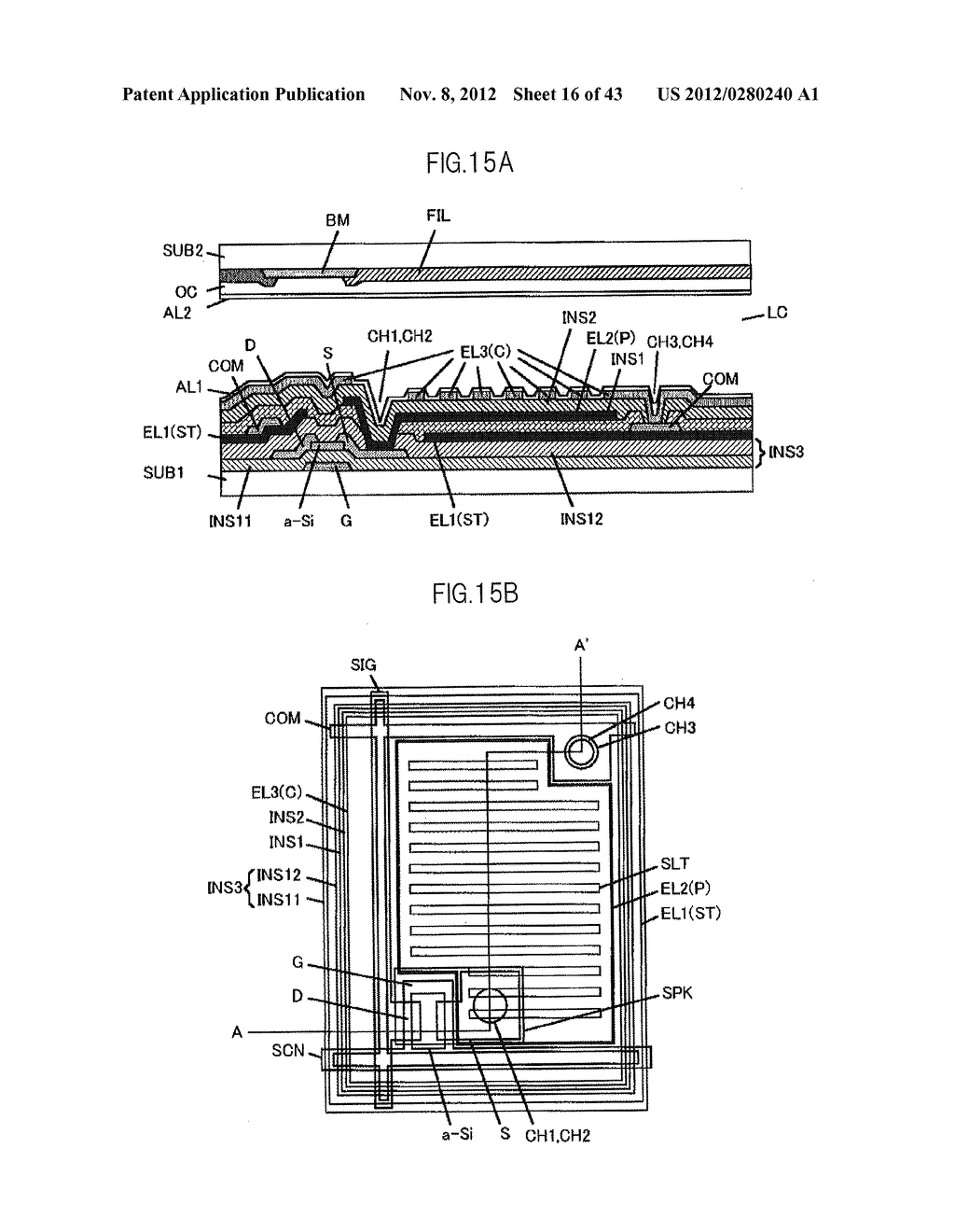 LIQUID CRYSTAL DISPLAY DEVICE HAVING FIRST, SECOND, AND THIRD TRANSPARENT     ELECTRODES WHEREIN A SECOND REGION OF THE SECOND ELECTRODE PROTRUDES FROM     A FIRST REGION - diagram, schematic, and image 17