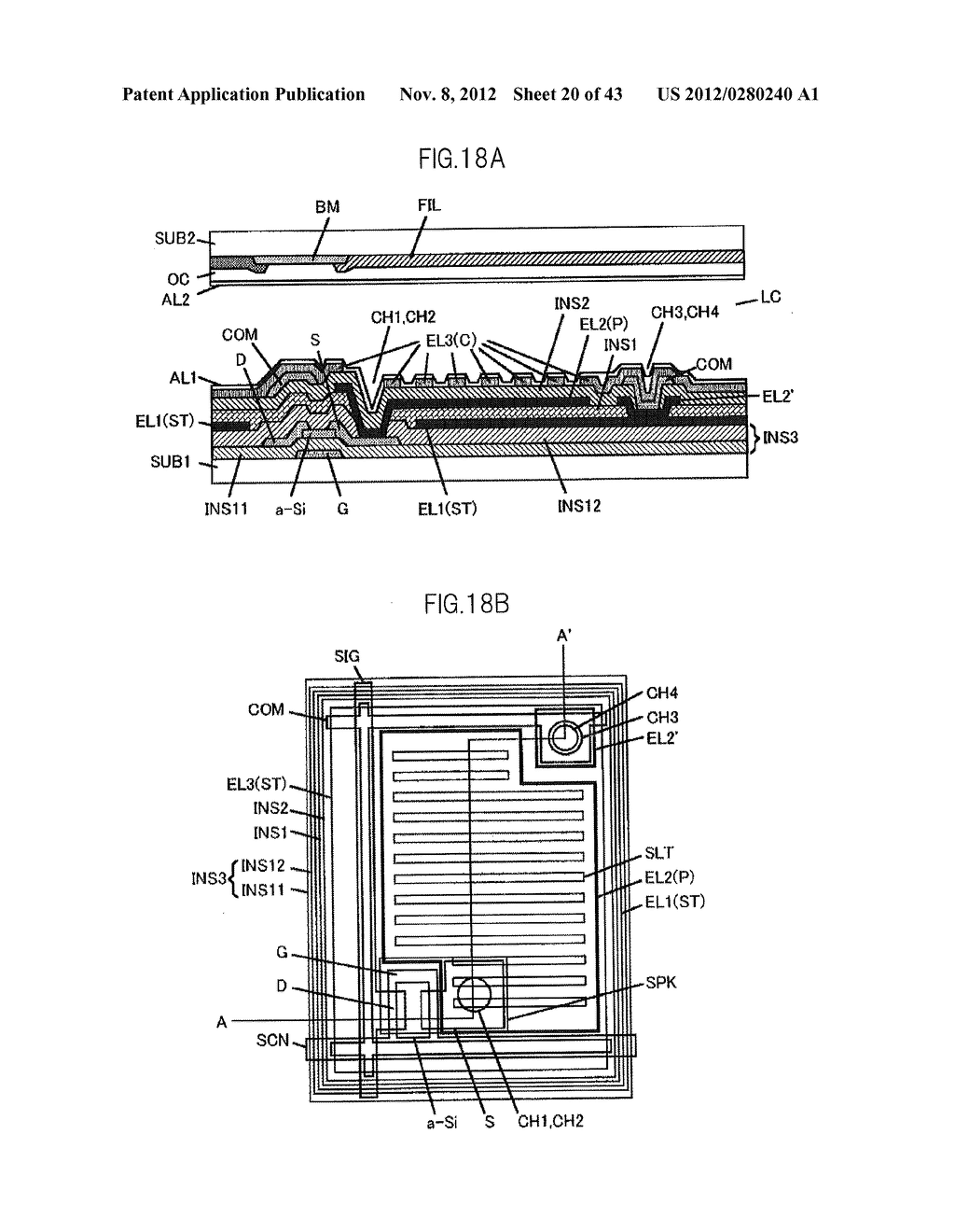LIQUID CRYSTAL DISPLAY DEVICE HAVING FIRST, SECOND, AND THIRD TRANSPARENT     ELECTRODES WHEREIN A SECOND REGION OF THE SECOND ELECTRODE PROTRUDES FROM     A FIRST REGION - diagram, schematic, and image 21