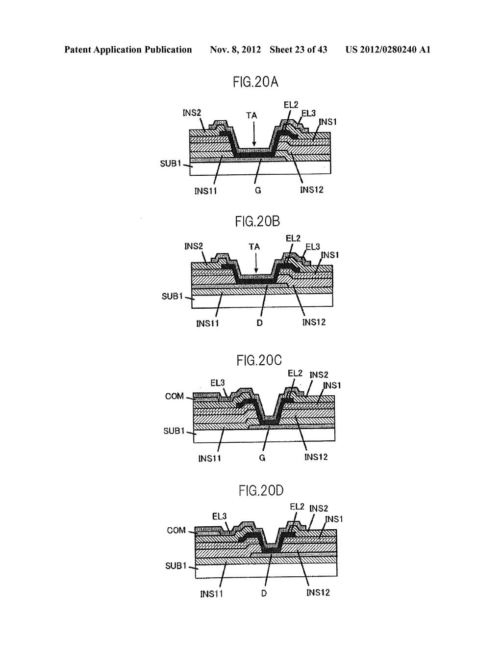 LIQUID CRYSTAL DISPLAY DEVICE HAVING FIRST, SECOND, AND THIRD TRANSPARENT     ELECTRODES WHEREIN A SECOND REGION OF THE SECOND ELECTRODE PROTRUDES FROM     A FIRST REGION - diagram, schematic, and image 24