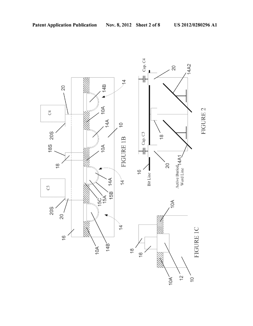 Semiconductor Device with DRAM Bit Lines Made From Same Material as Gate     Electrodes in Non-Memory Regions of the Device, and Methods of Making     Same - diagram, schematic, and image 03