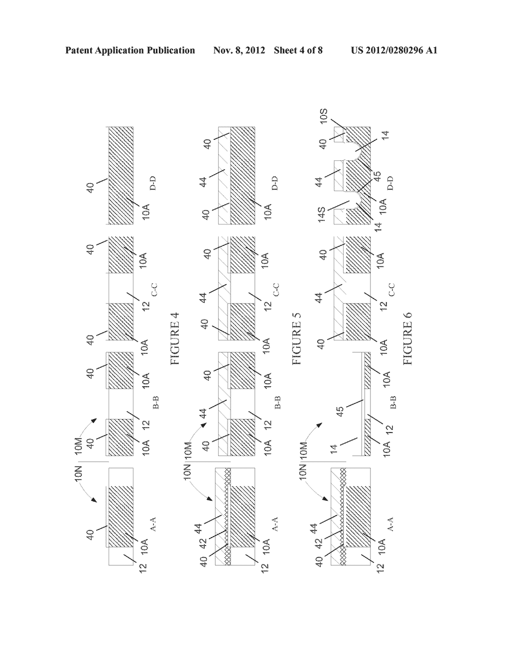 Semiconductor Device with DRAM Bit Lines Made From Same Material as Gate     Electrodes in Non-Memory Regions of the Device, and Methods of Making     Same - diagram, schematic, and image 05