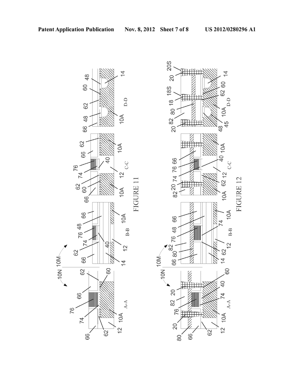 Semiconductor Device with DRAM Bit Lines Made From Same Material as Gate     Electrodes in Non-Memory Regions of the Device, and Methods of Making     Same - diagram, schematic, and image 08