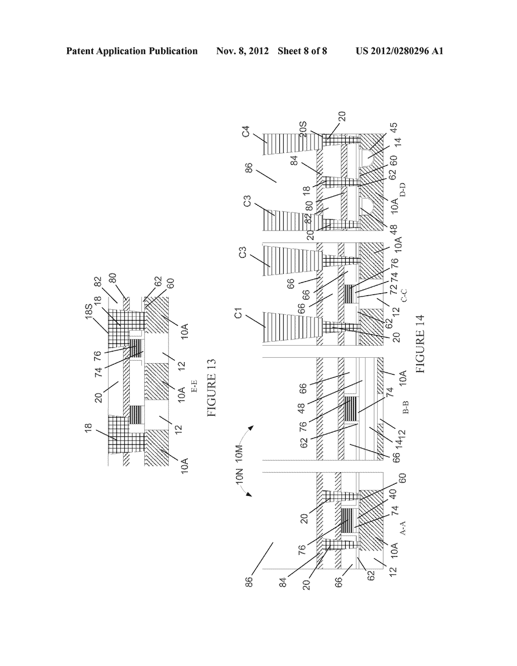Semiconductor Device with DRAM Bit Lines Made From Same Material as Gate     Electrodes in Non-Memory Regions of the Device, and Methods of Making     Same - diagram, schematic, and image 09