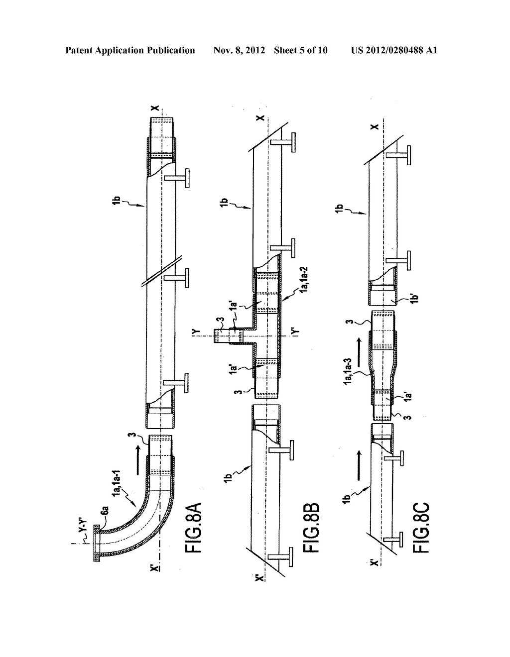 Part for connecting pipes including an internal liner, a covering method,     and a method of assembly - diagram, schematic, and image 06
