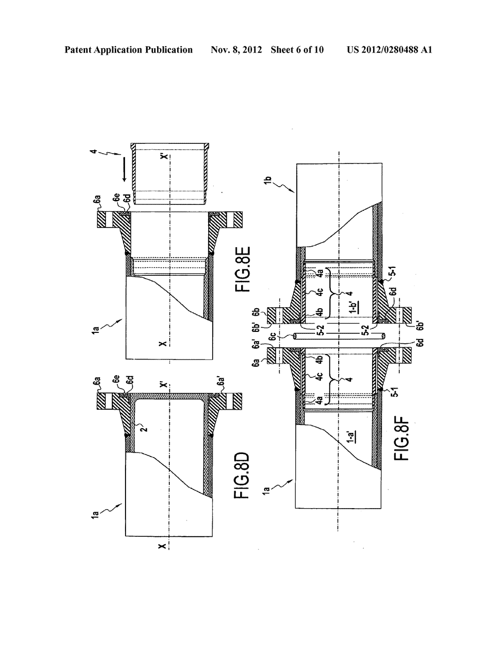 Part for connecting pipes including an internal liner, a covering method,     and a method of assembly - diagram, schematic, and image 07