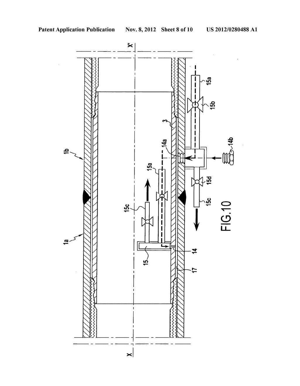 Part for connecting pipes including an internal liner, a covering method,     and a method of assembly - diagram, schematic, and image 09