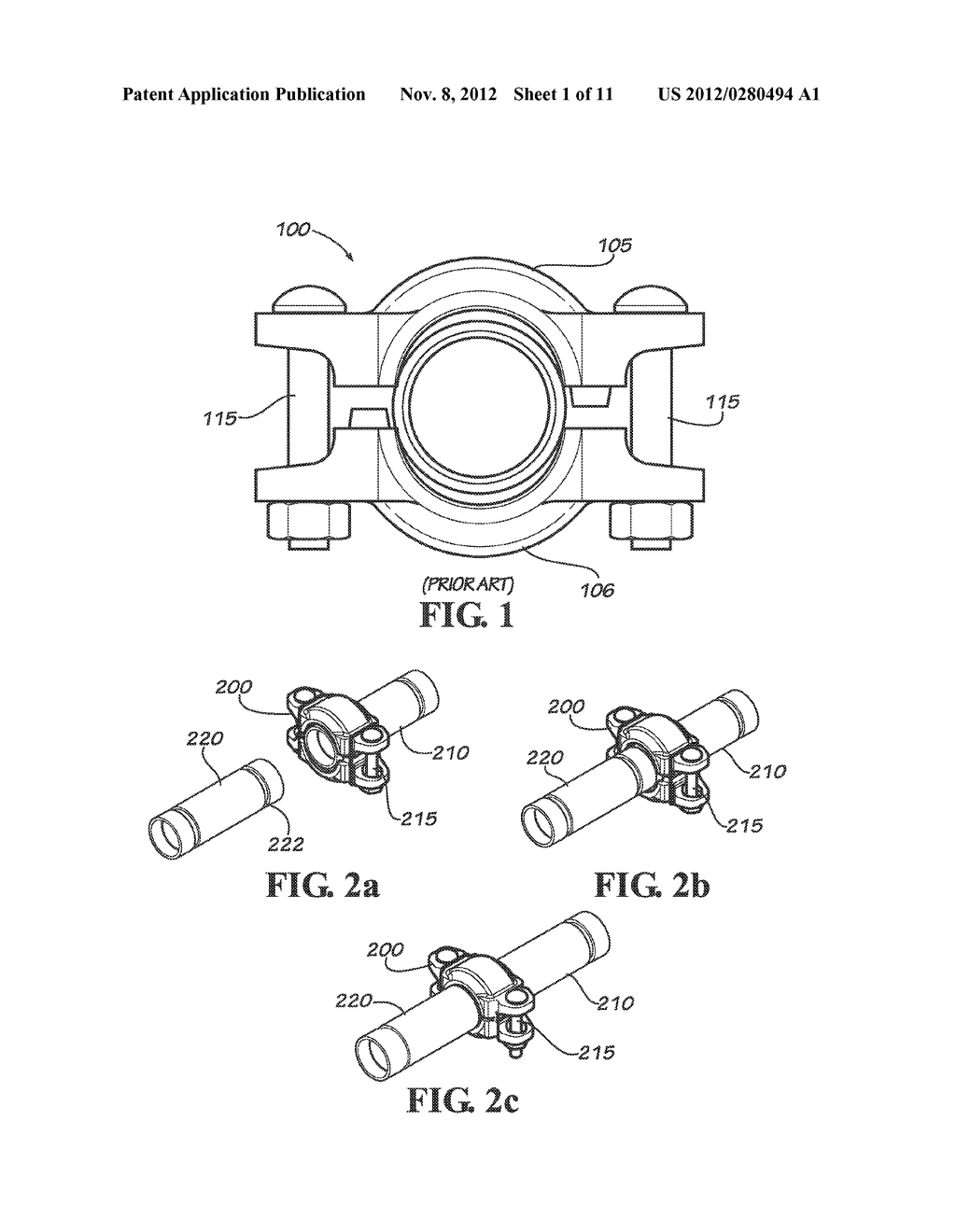 SLIP ON GROOVE COUPLING WITH MULTIPLE SEALING GASKET - diagram, schematic, and image 02