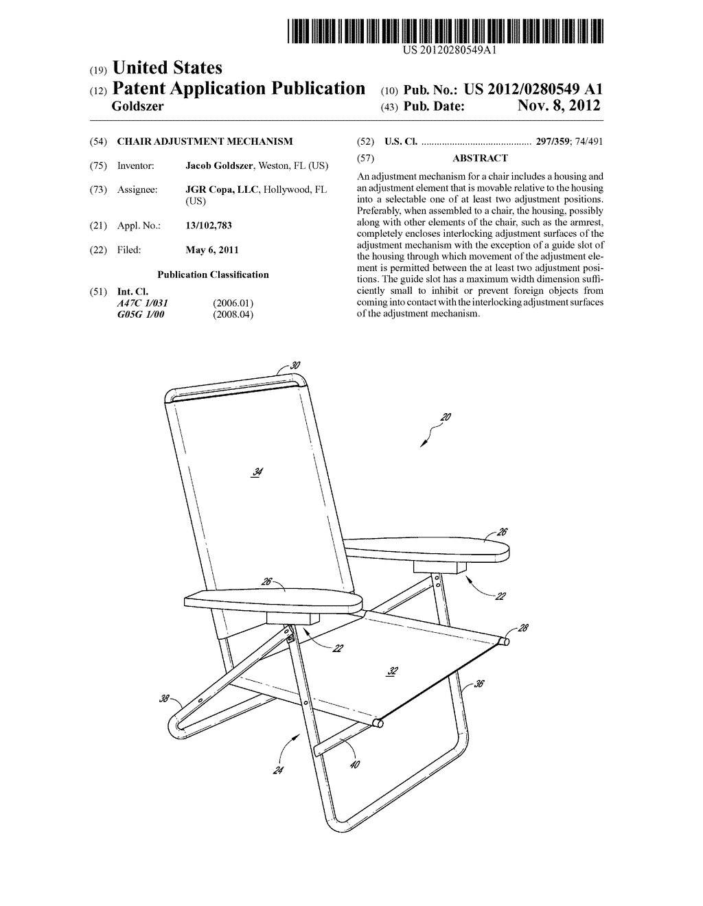 CHAIR ADJUSTMENT MECHANISM - diagram, schematic, and image 01