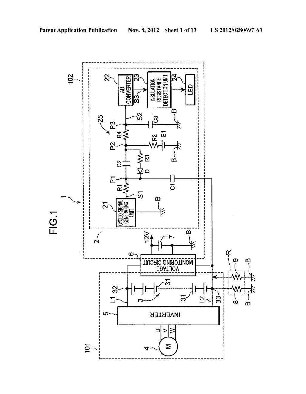 VEHICULAR INSULATION RESISTANCE DETECTION APPARATUS - diagram, schematic, and image 02
