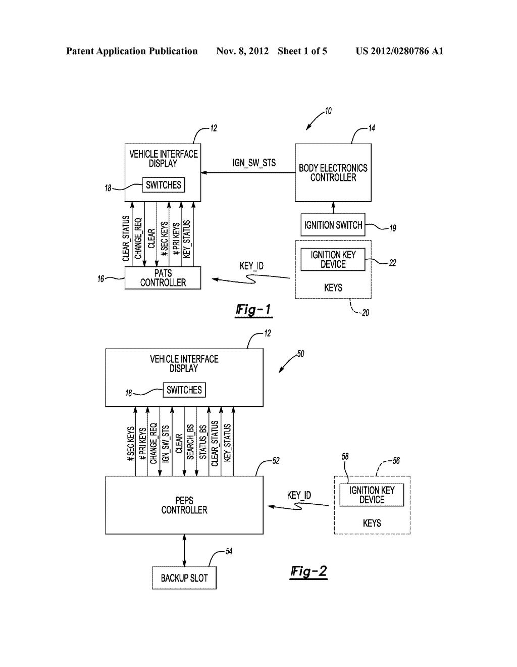 SYSTEM AND METHOD FOR PROGRAMMING KEYS TO VEHICLE TO ESTABLISH PRIMARY AND     SECONDARY DRIVERS - diagram, schematic, and image 02