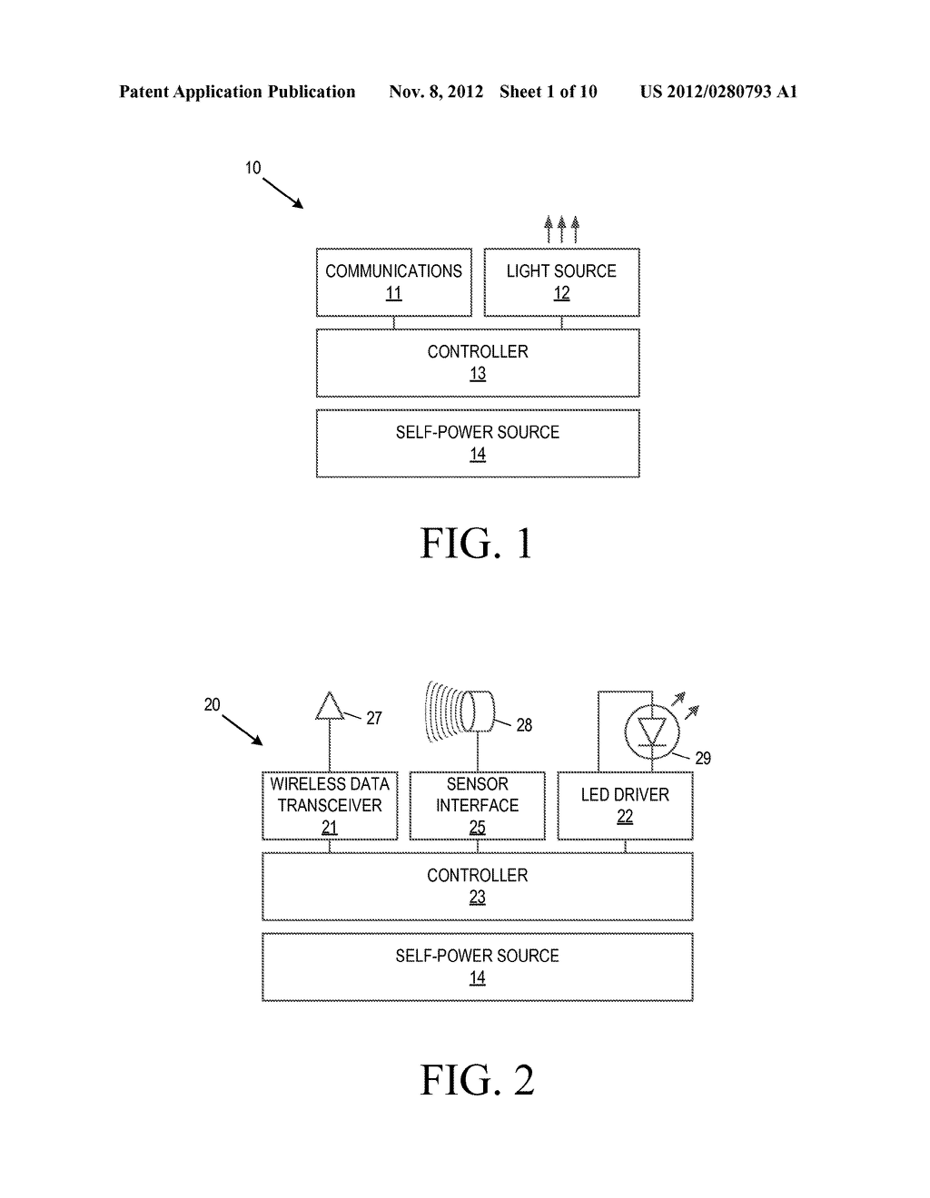 Apparatus and Method for Power Management of a System of Indicator Light     Devices - diagram, schematic, and image 02