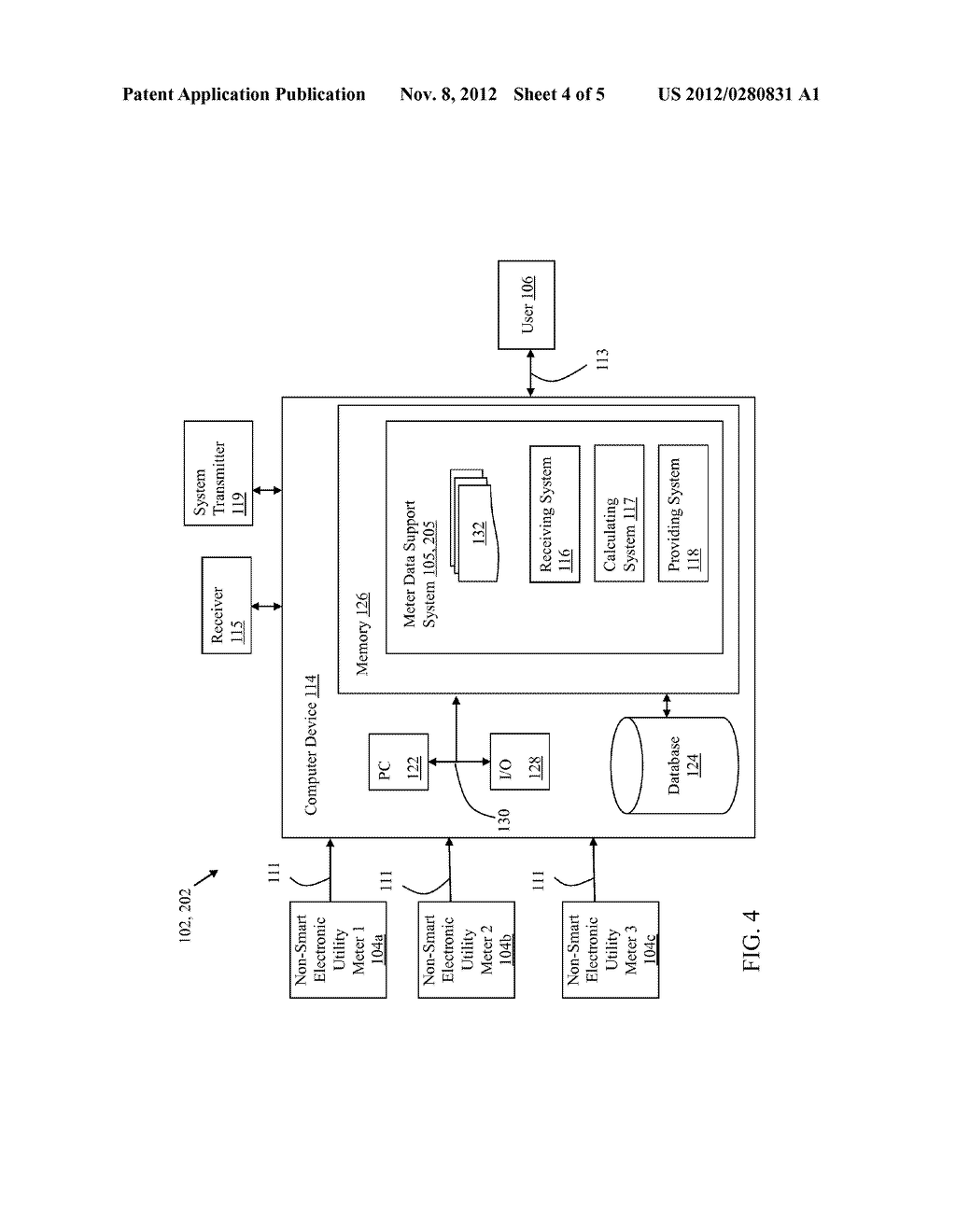 CALCULATION OF AUXILIARY VALUE BASED ON METER DATA FROM NON-SMART     ELECTRONIC UTILITY METER - diagram, schematic, and image 05