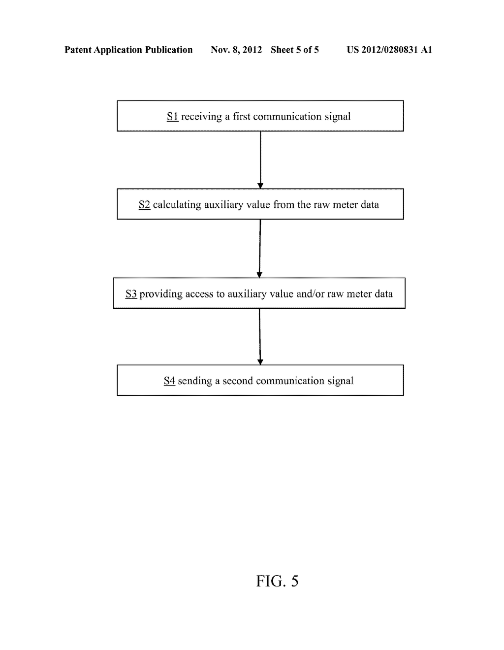 CALCULATION OF AUXILIARY VALUE BASED ON METER DATA FROM NON-SMART     ELECTRONIC UTILITY METER - diagram, schematic, and image 06