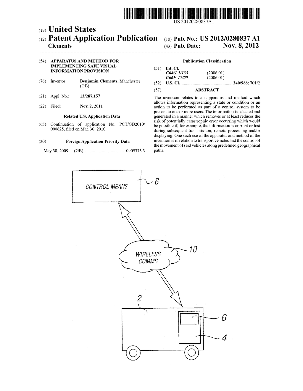 APPARATUS AND METHOD FOR IMPLEMENTING SAFE VISUAL INFORMATION PROVISION - diagram, schematic, and image 01